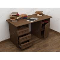письменный стол с выдвижными ящиками цвета шимо темный