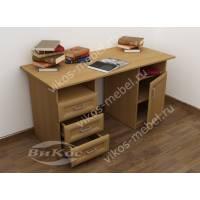 большой письменный стол со шкафчиком