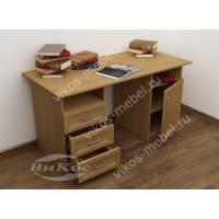 большой письменный стол с выдвижными ящиками