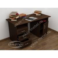 письменный стол со шкафчиком цвета венге