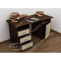 большой письменный стол цвета венге - молочный дуб