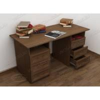 офисный стол с ящиками для мелочей цвета шимо темный