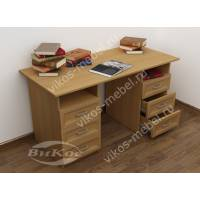 офисный стол с ящиками для мелочей цвета бук