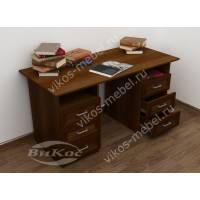 двухтумбовый офисный стол цвета яблоня