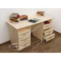 двухтумбовый офисный стол с ящиками для мелочей