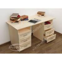 двухтумбовый офисный стол цвета молочный беленый дуб