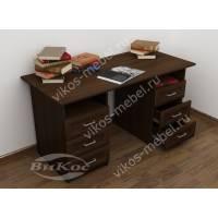 офисный стол с ящиками для мелочей цвета венге