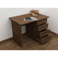 однотумбовый стол в кабинет цвета шимо темный