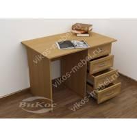 стол в кабинет с ящиками цвета бук