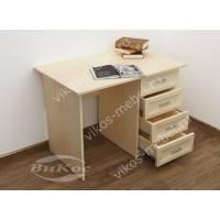 однотумбовый стол в кабинет цвета молочный беленый дуб