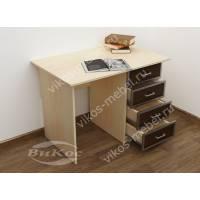 стол в кабинет с ящиками цвета беленый дуб - венге