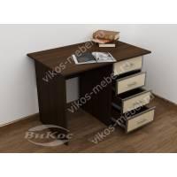 маленький стол в кабинет цвета венге - молочный дуб