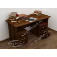 2-тумбовый письменный стол цвета яблоня