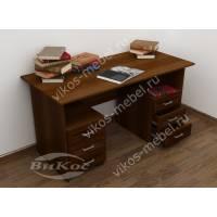 большой письменный стол цвета яблоня