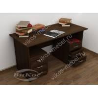 письменный стол с выдвижными ящиками цвета венге