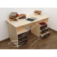 2-тумбовый письменный стол с выдвижными ящиками