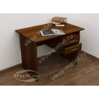 офисный стол с ящиками для мелочей цвета яблоня