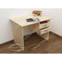 малогабаритный офисный стол цвета молочный беленый дуб