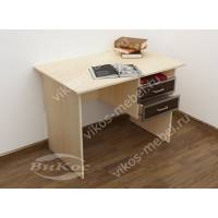 офисный стол с ящиками для мелочей цвета беленый дуб - венге