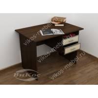 малогабаритный офисный стол цвета венге - молочный дуб