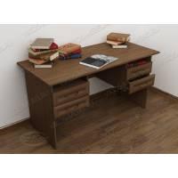 широкий стол в кабинет цвета шимо темный