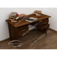 стол в кабинет с ящиками цвета яблоня