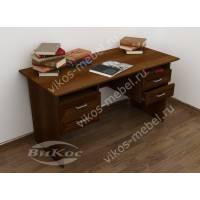 широкий стол в кабинет цвета яблоня