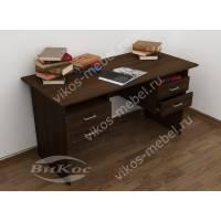 стол в кабинет с ящиками цвета венге