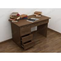 офисный стол с выдвижными ящиками цвета шимо темный