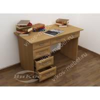 1-тумбовый офисный стол цвета бук