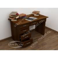 офисный стол с выдвижными ящиками цвета яблоня