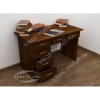 1-тумбовый офисный стол цвета яблоня