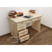 маленький офисный стол цвета молочный беленый дуб