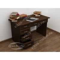 1-тумбовый офисный стол цвета венге