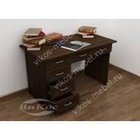 офисный стол с выдвижными ящиками цвета венге