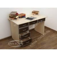 1-тумбовый офисный стол с выдвижными ящиками