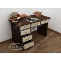 маленький офисный стол цвета венге - молочный дуб