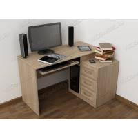 стол компьютерный с ящиками цвета шимо светлый