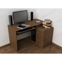 стол компьютерный в классическом стиле цвета шимо темный