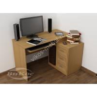 широкий стол компьютерный цвета бук