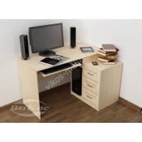 стол компьютерный с ящиками цвета молочный беленый дуб