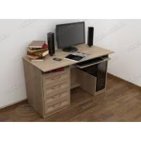 прямой стол для компьютера с выдвижными ящиками
