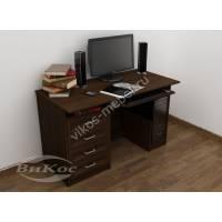 стол для компьютера с выдвижными ящиками цвета венге