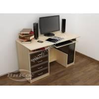 большой стол для компьютера с выдвижными ящиками