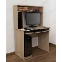 компьютерный стол с полками цвета шимо светлый