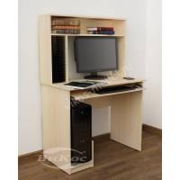 компьютерный стол с полками цвета молочный беленый дуб