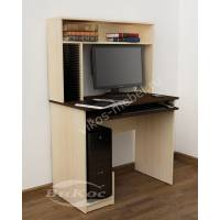 мини компьютерный стол цвета беленый дуб - венге