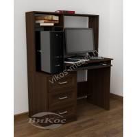маленький стол компьютерный с полками