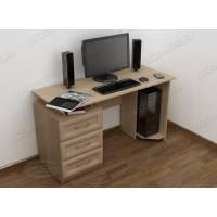 широкий стол для компьютера цвета шимо светлый