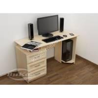 прямой стол для компьютера с ящиками